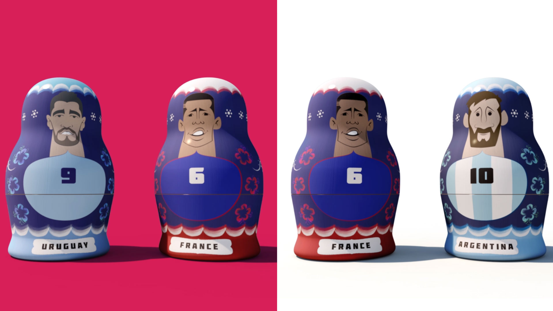 World cup russian dolls animation